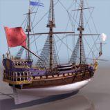 欧式航海战船3D模型