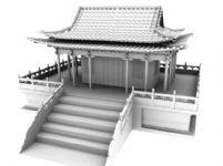 古代建筑,古建,寺庙maya模型