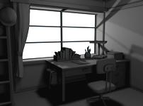 书房,书桌3D模型