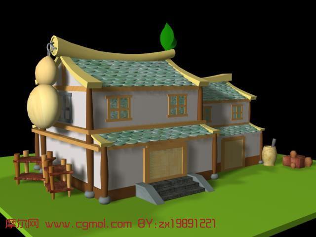 q版房子3d模型图片