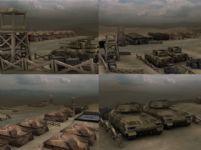 国外战争军营场景3D模型