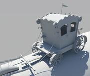 英式马车maya模型