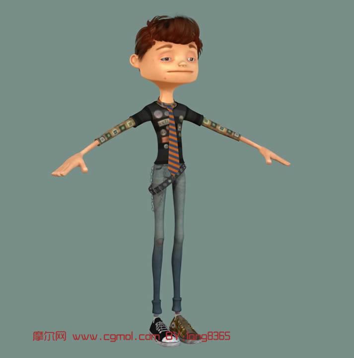 boy,卡通男孩maya模型 有材质 卡通角色 动画角色高清图片