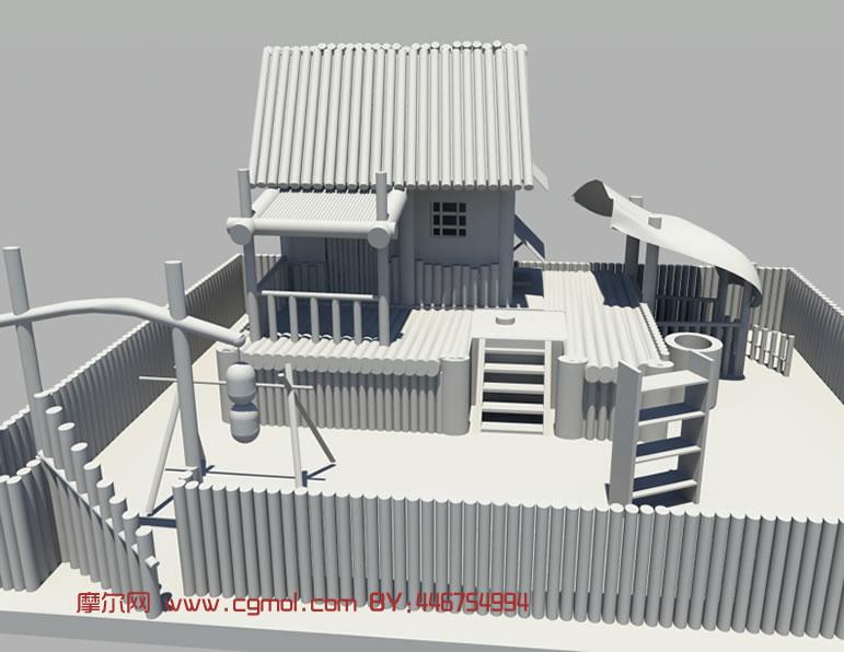 木房子maya模型高清图片