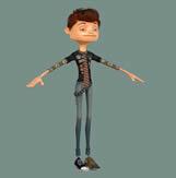 BOY,卡通男孩maya模型(有材质)