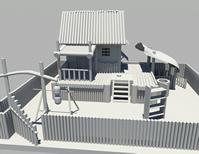 小木屋,木房子maya模型
