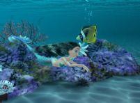 美人鱼,海底世界3D模型(带动画)