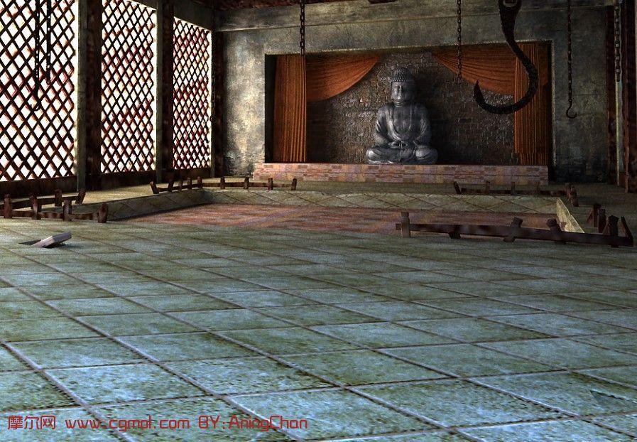 古庙,古寺,寺庙3D模型