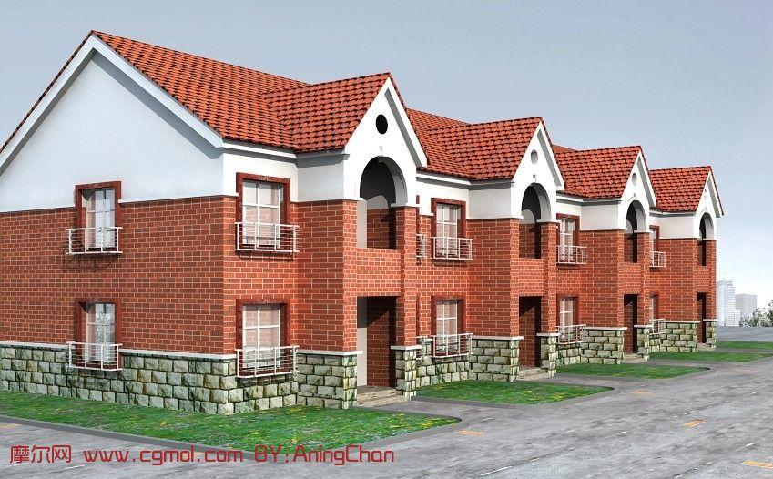 住宅楼,排房,居民楼3D模型