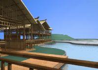 海边木屋场景3D模型