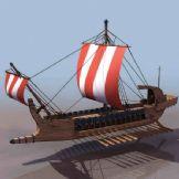 英伦风海船,战船,货船3D模型