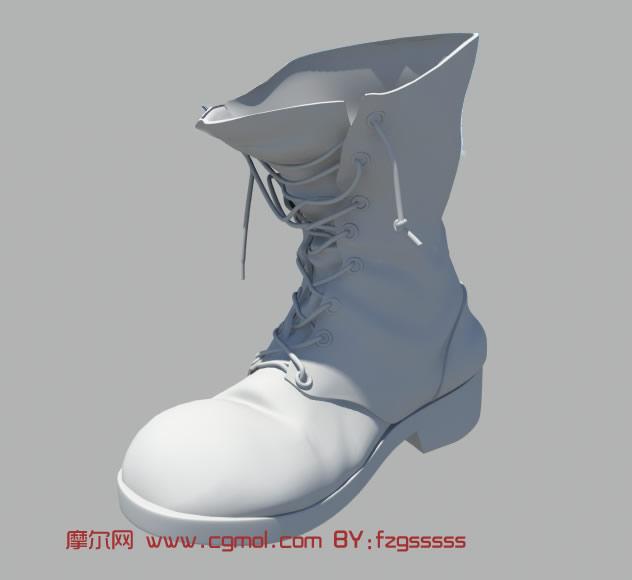 鞋子,靴子3d模型