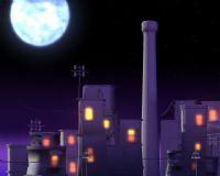 动漫中的房子maya模型