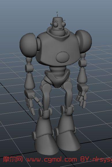大眼机器人3d模型,次时代角色