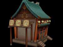 古代店铺,,店面,古建筑3D模型