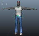 绑定 动画角色3D模型