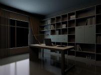 精美简洁的书房3D模型