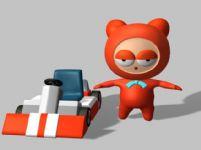 卡丁车宝宝3D模型(带动画)