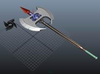 片斧,斧头,长斧3D模型