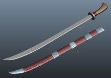 腰刀,佩刀3D模型