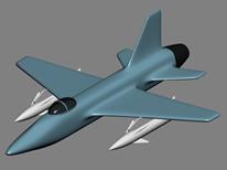 简单飞机,导弹3D模型