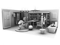 家庭场景,室内客厅设计3D模型