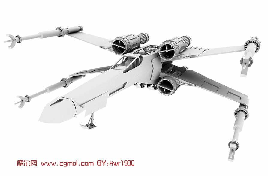 maya飞机三视图