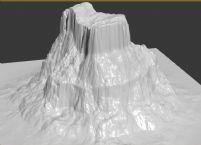 高山的3D模型
