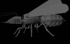 机械飞虫灰烬maya模型