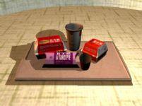 可乐,薯条,麦乐鸡,派,巨无霸汉堡,麦当劳套餐3D模型