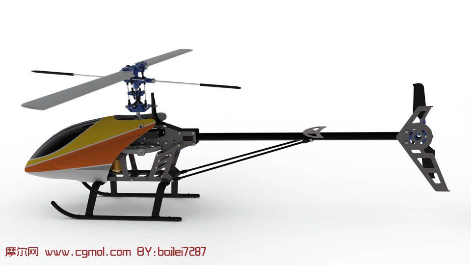 遥控飞机,玩具直升飞机3d模型