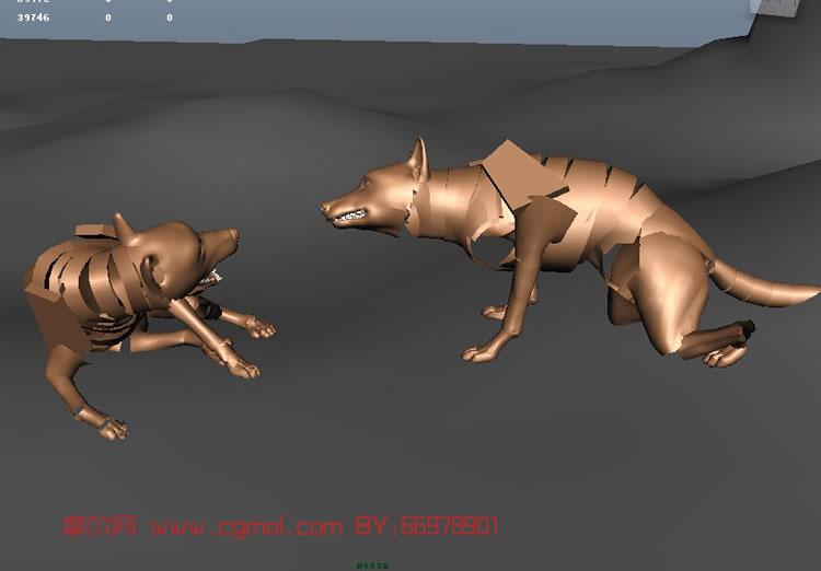 其他  关键词:狼动画maya动作 作品描述:比较适合初学者学习四足动物