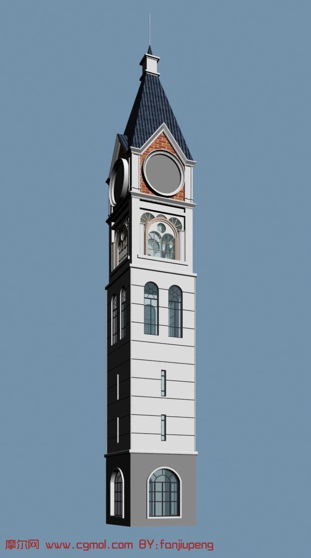 塔楼,钟楼,尖塔3d模型