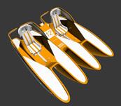双体船,双人船3D模型