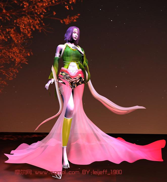 漂亮美女3d模型