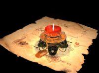 骷髅头蜡烛maya模型