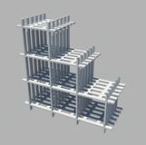 六格柜3D模型