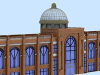 欧式建筑,穹顶3D模型