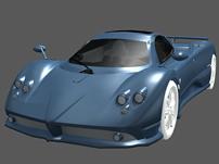 帕加尼Zonda意大利跑车3D模型