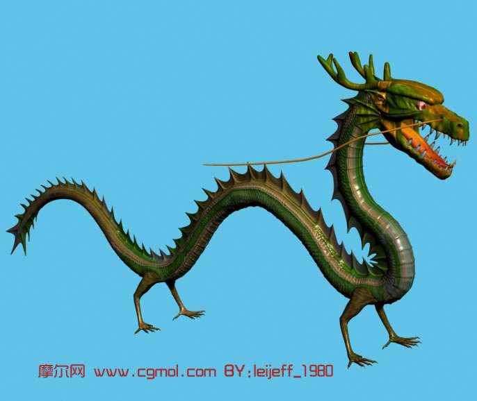 精细青龙3d模型,其他,动物模型