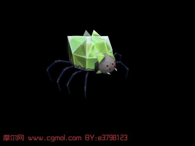 3d蜘蛛模型,爬行动物,动物模型
