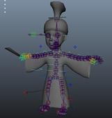 古装卡通人物3D模型(加绑定)