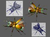 锹甲虫,甲壳虫,昆虫3D模型
