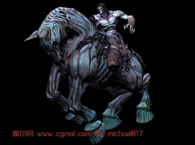 暗黑血统2骑马3d模型下载
