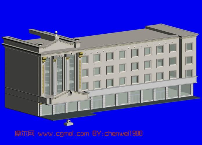 国外建筑,欧式建筑3D模型