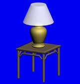桌子,台灯3D模型