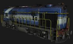 火车,火车头3D模型
