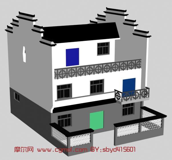 maya房子模型 maya模型免费高清图片