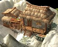 茅屋,茅草屋场景3D模型