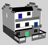 民房,房子3D模型